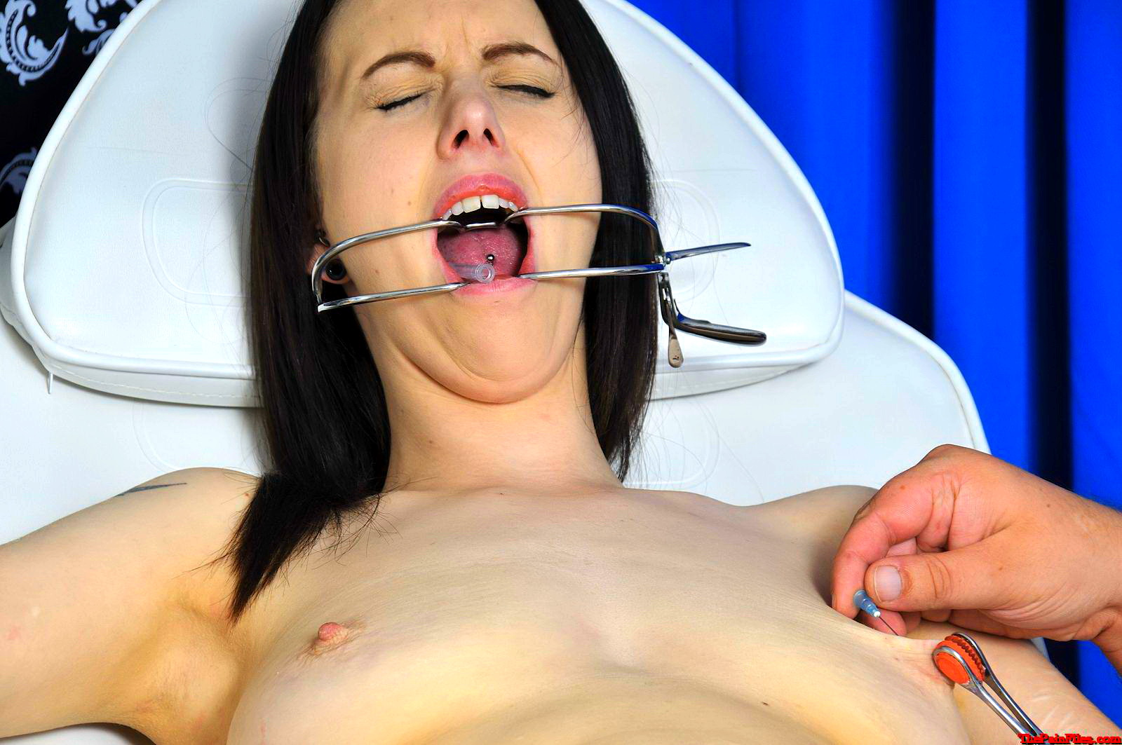 image Breast caning for tied up girl
